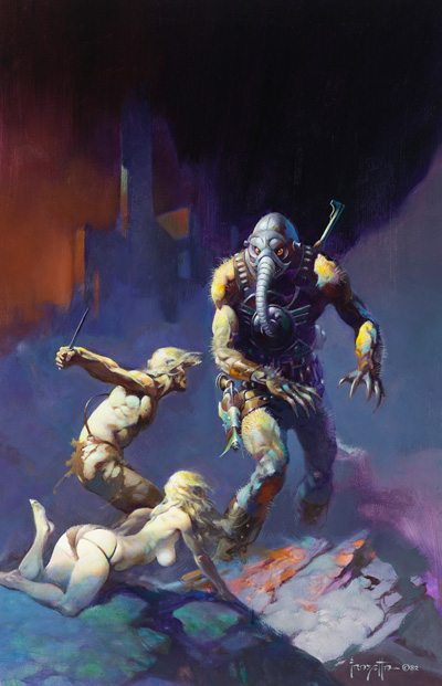 Frank Frazetta's Battlefield Earth Artwork