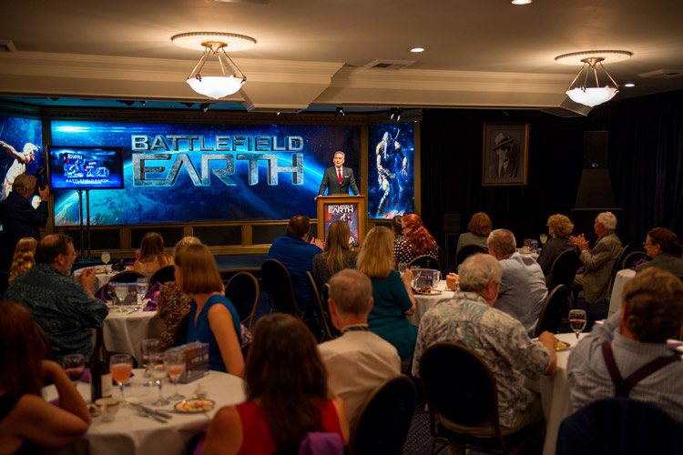 President Galaxy Press, John Goodwin, welcoming guests