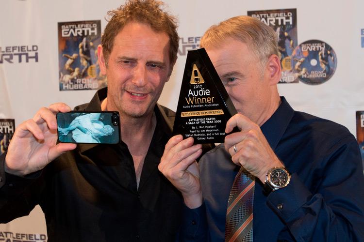 Ralph Lister and Jim Meskimen taking selfie