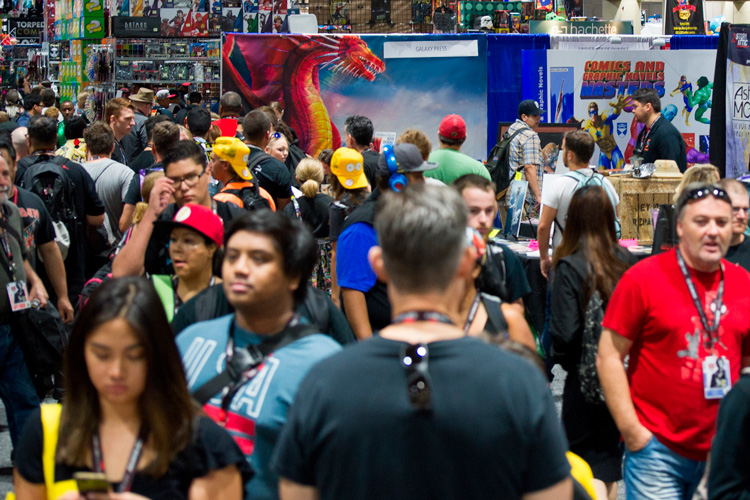 Galaxy Press booth at SDCC
