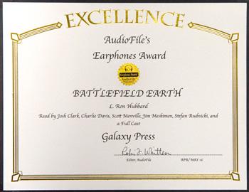 Battlefield Earth audiobook Earphone Award