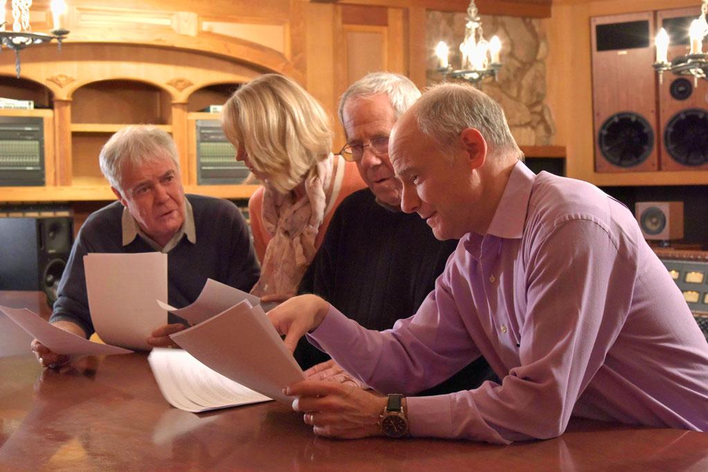 Director Jim Meskimen with actors Larrs Jackson, Tamra Meskimen and Phil Proctor
