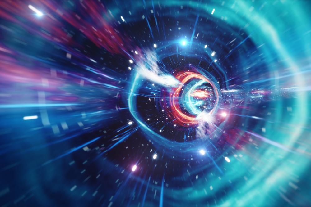Interstellar travel through a wormhole